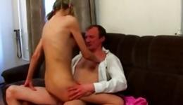 Blonde sexy young babe is getting her tender holes spurted wildly