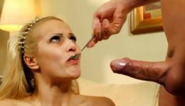 This raunchy guy decided to bang his attractive blonde girl hard in all holes