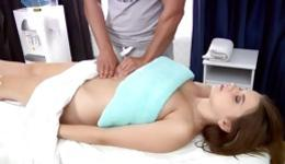 Kinky brunette slut gets tight pussy hole smashed rough with huge rod